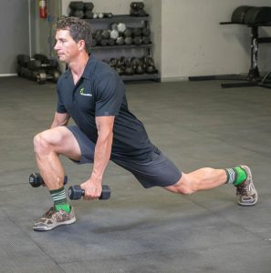 lunge with dumbbells