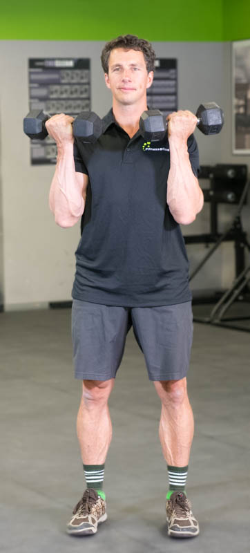 dumbbell bicep curl for strong arms