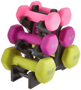 Amazon basics dumbbell set
